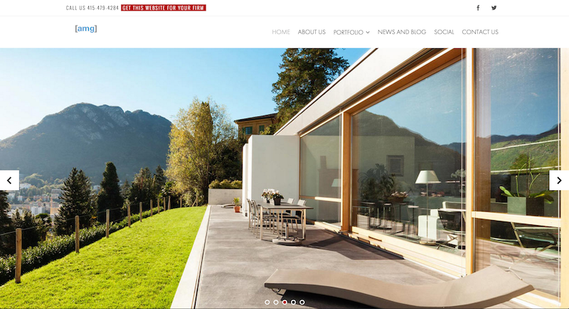 Homepage of our Architects Website Template